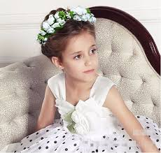 flower girl hair accessories floral wrist flower girl garland garlands crown of flowers for