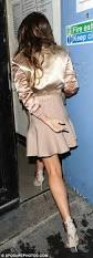 cheryl cole looks svelte in pink skater dress and satin jacket as