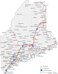 search road map 9 best maine images on maine road maps and lists
