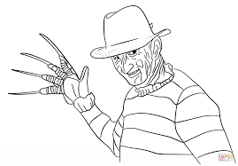 freddy krueger coloring page free printable coloring pages