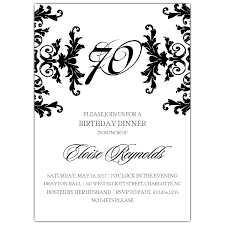 70th birthday invitations paperstyle