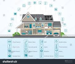 infographic smart home technology conceptual system stock vector