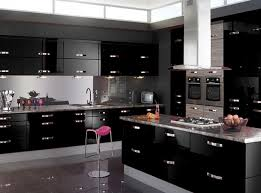 black gloss kitchen ideas glossy fablon kitchen units cupboard doors draws self adhesive
