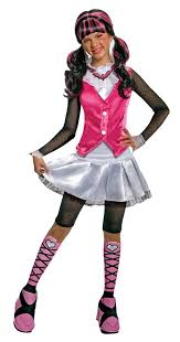 Kids Monster Halloween Costumes by Amazon Com Monster High Deluxe Draculaura Costume Medium Toys