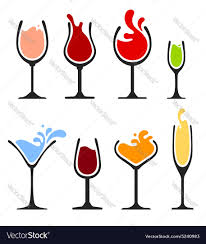 martini silhouette vector silhouette of wine glass with splash royalty free vector