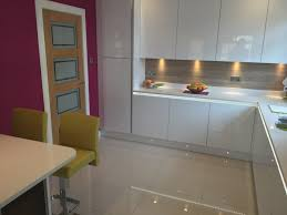 White Gloss Furniture Giffnock Kitchen Design White Gloss Furniture