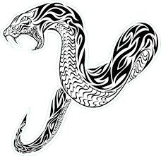 tribal snake tattoos jpg 1 001 969 pixels silhouettes animals