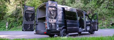 Van Rear Door Awning Interior And Exterior Options For Custom Vans