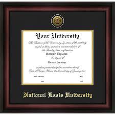 of illinois diploma frame national louis gold embossed medallion diploma frame