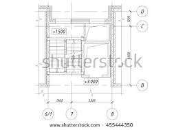 Floor Plan Of An Apartment Part Plan Apartment House Stairs Elevator Stock Illustration