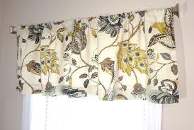 curtain valance topper window valance 52x15 brown grey blue