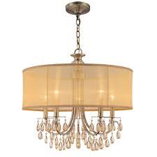 Brass Chandelier Crystorama Lighting Group 5625 Ab Antique Brass Hampton 5 Light 24