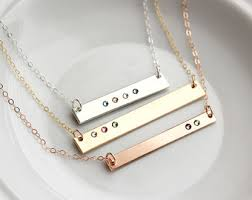 personalized necklaces for bar necklace etsy