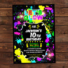 glow in the glow in the invitations diy glow party invitations