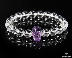 skull crystal bracelet images Quartz rock crystal beads stretch bracelet with stunning hand jpg