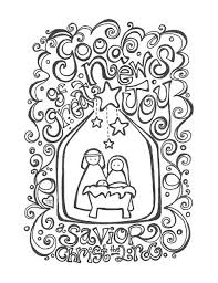 nativity scene illustration inspiration coloring