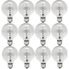 ge 12983 6 25 watt globe g25 light bulb crystal clear 6 pack