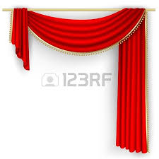 set of red curtains to theater stage mesh royalty free cliparts
