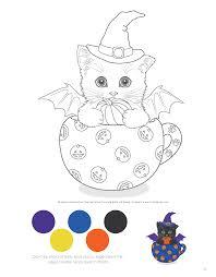 teacup kittens coloring book design originals kayomi harai