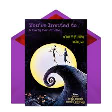 nightmare before christmas wedding invitations free the nightmare before christmas online invitation punchbowl