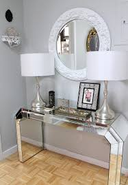 table picture display ideas console table display ideas hall eclectic with wood parquet floor