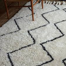 Modern Patterned Rugs Souk Wool Rug Ivory West Elm