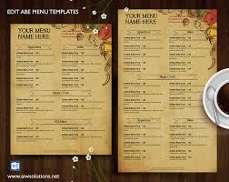 menu bar templates menu id27 restaurant menu restaurant menu template and