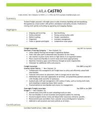 Resume For Lowes Examples by Best Sales Freight Associate Resume Example Livecareer
