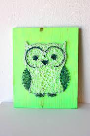 Owl String Art Owl Decor Wooden Owls Owl Baby Shower Owl