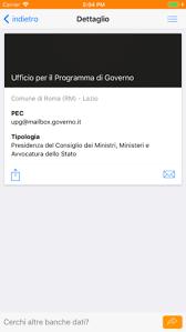 presidenza consiglio dei ministri pec registro pec dans l app store