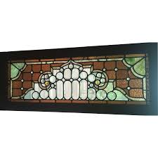 antique stained glass transom window stained and beveled victorian stained glass transom window from