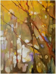 olivia pendergast this reminds me of an out of focus photo if you squint it abstract tree paintingabstract treesautumn paintingabstract