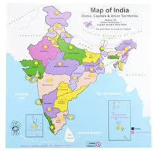 Map India Buy Little Genius Map India Multi Color Large Online At Low