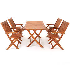 Ebay Patio Furniture Sets by Wooden Garden Table U0026 Chairs Set Sydney Acacia Wood Sitting Set