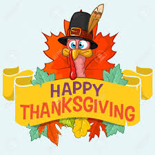happy thanksgiving turkey with autumn leaves vector card royalty
