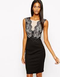 lipsy michelle keegan loves lipsy bodycon dress with lace mesh