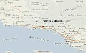 santa barbara california map santa barbara location guide