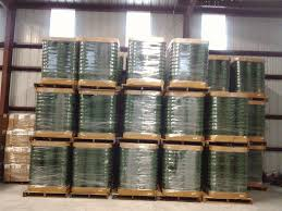 pallet 5 gallon green buckets 120 pails per pallet sold out