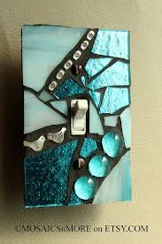 clear light switch cover blue ice mosaic light switch cover wall plate switch covers
