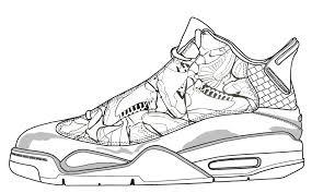 air jordan coloring sheets sneakers