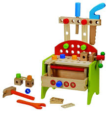 Boys Wooden Tool Bench Kids Children Wooden Diy Work Bench Learning Tool Set Toy Small