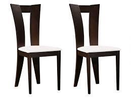 chaise wengé lot de 2 ou 6 chaises hêtre massif blanc wengé