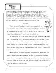metaphor hunt worksheet figurative language worksheets