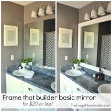 Framing A Large Bathroom Mirror How To Build A Wood Frame Around A Bathroom Mirror Bathroom
