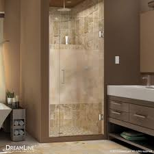Frameless Frosted Glass Shower Doors by Unidoor Plus Half Frosted Glass Shower Door