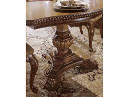 universal furniture villa cortina double pedestal table