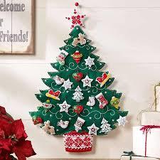 bucilla nordic tree advent calendar felt applique kit