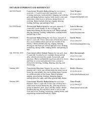 dance resume objective how to list babysitter on resume resume for your job application resume for nanny resume cv cover letter