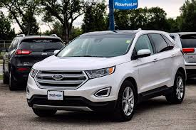 jeep ford 2017 used 2017 ford edge titanium awd white platinum tri coat in