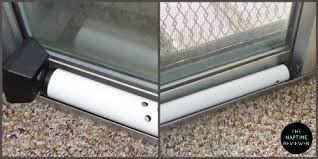 Security Bars For Patio Doors Master Lock Security Door Bar Gives Extra Home Safety The